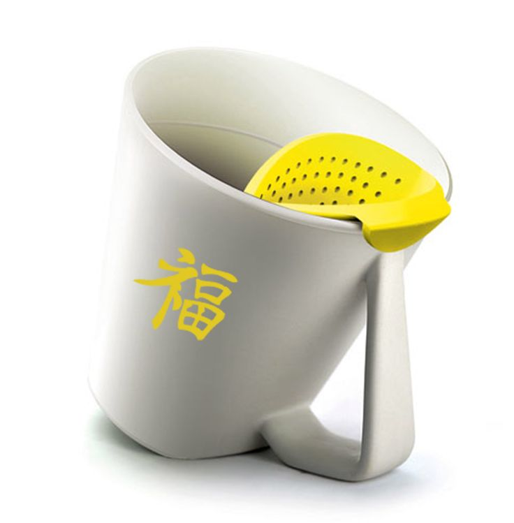 This mug is tilted 45 degrees for a perfectly steeped cup of tea..every time!