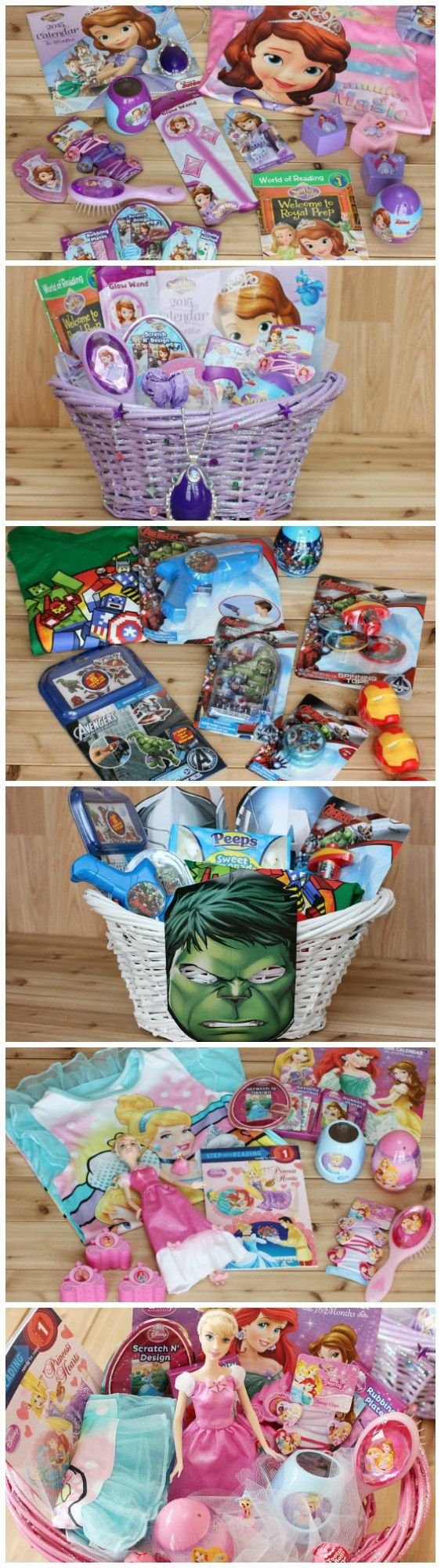 Check out how we made our own Disney themed Easter baskets and make your own or buy pre-filled Disney baskets. Sofia the First Easter Basket. The Avengers Easter Basket/ Disney Princess Easter Baskets. [affiliate]