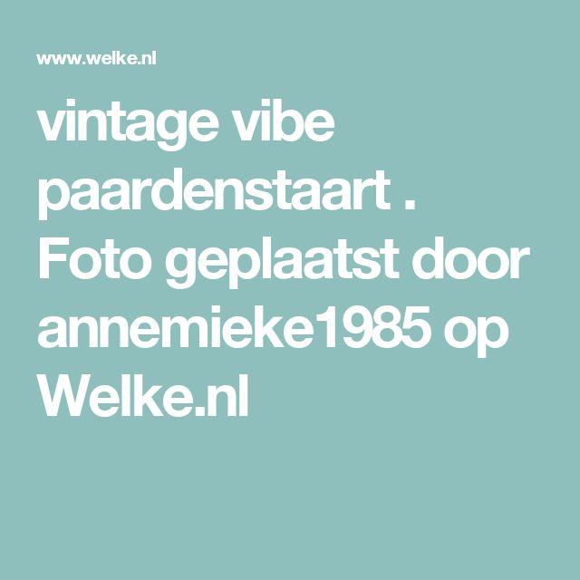 vintage vibe paardenstaart  . Foto geplaatst door annemieke1985 op Welke.nl