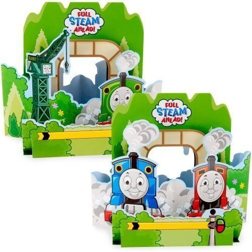 Thomas and Friends Full Steam Ahead Centerpiece by American Greetings. $6.49. Thomas & Friends Full Steam Ahead Centerpiece. Ideal Thomas decor for your Thomas the Tank Engine birthday party table. This Thomas the Tank Engine Centerpiece is made of cardboard with Thomas the Tank Engine as the center of attention. Measures 11.75 x 1