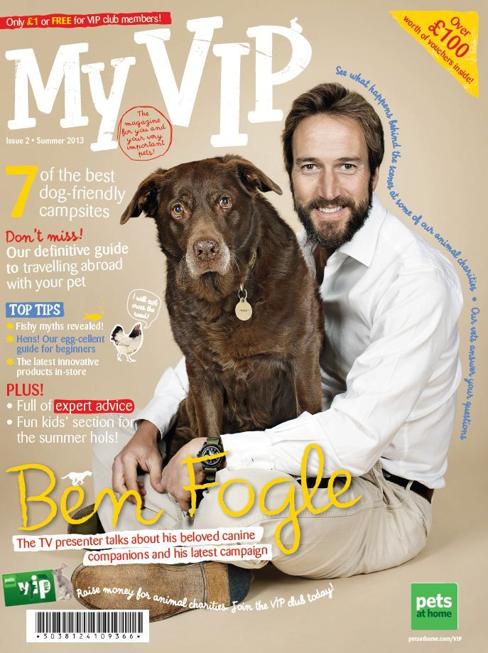 Check out Ben Fogle in Issue 2 talking about his Big Scoop Campaign.  To become a VIP Member, visit www.petsathome.com/vip