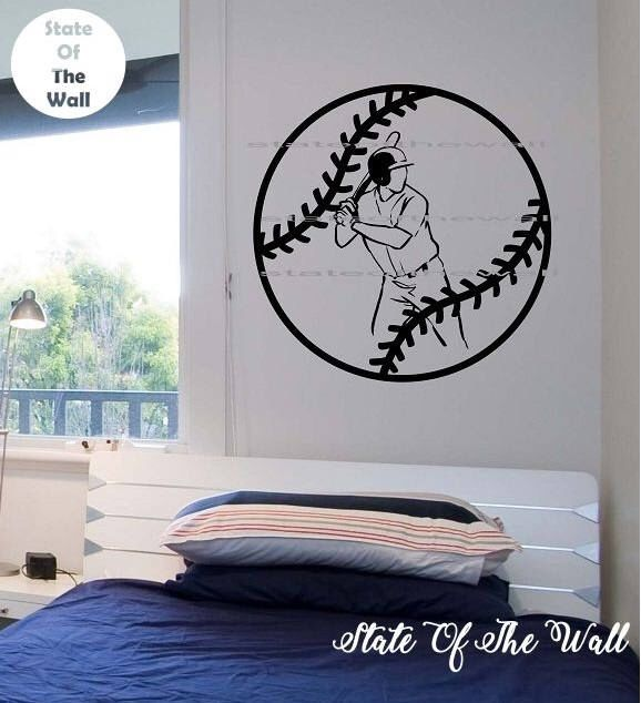 Baseball Wall Decal Sticker Art Decor Bedroom Design Mural Sports Lifestyle Work Out Home 2