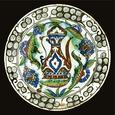 An Iznik polychrome dish, Turkey, 17th century | Lot | Sotheby's