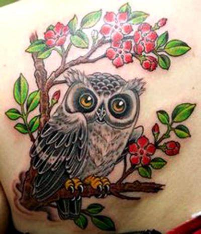 Tatuagens de Corujas - Significados de Tattoos - Mais Tatuagem