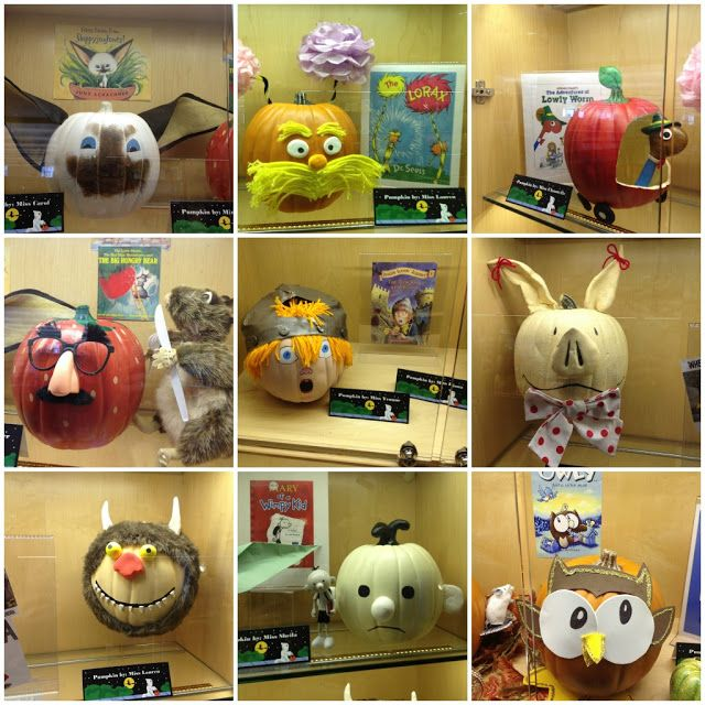 Pumpkin book character ideas for October or Halloween library display/contest Stacie you so need to do,this!