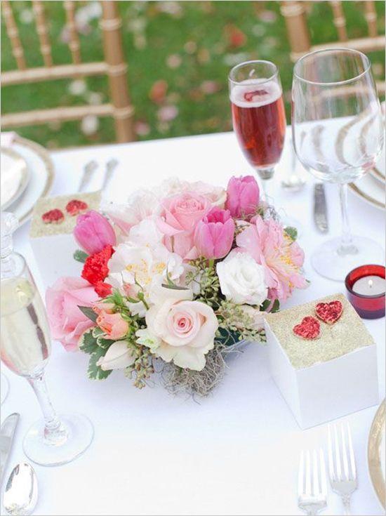 Elegant Valentines Day Ideas Pastel Wedding CenterpiecesWedding