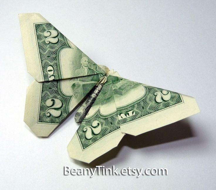 Butterfly dollar origami - http://www.ikuzoorigami.com/butterfly-dollar-origami/