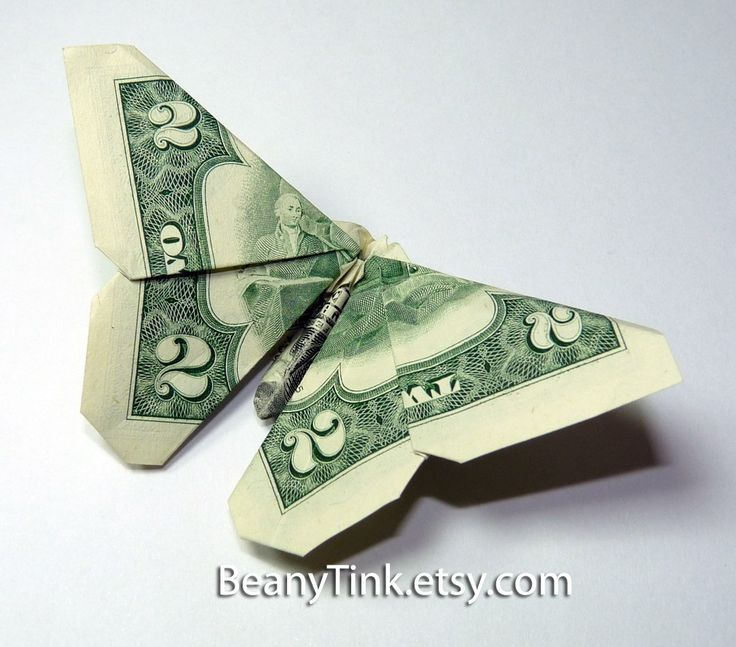 Butterfly dollar origami