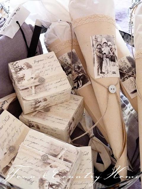 Gift vintage wrap idea