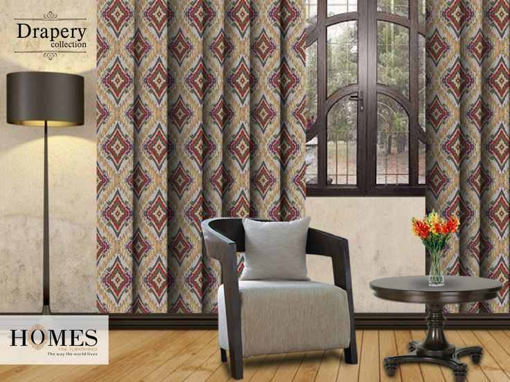 Rich earthy colours like deep brown, black or charcoal gray add quality, comfort & grace to your Home Decor. Explore our collections @ www.homesfurnishings.com #HomesFurnishings #Cushions #Draperies #DraperyCollection #Upholstery #Curtains