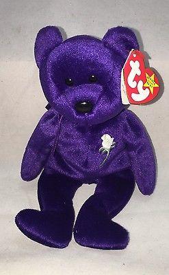 Rare 1ST Edition TY Princess Diana Bear Beanie Baby 1997 Original NWT