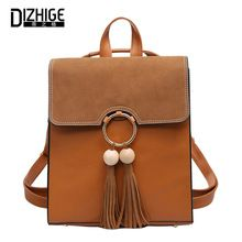2017 Brand Scru Pu Leather Backpack Women Fashion Tassel School Bags For Teenage Girls Brown Backpack Metal Ring Sac A Dos New     Tag a friend who would love this!     FREE Shipping Worldwide     Get it here ---> http://fatekey.com/2017-brand-scru-pu-leather-backpack-women-fashion-tassel-school-bags-for-teenage-girls-brown-backpack-metal-ring-sac-a-dos-new/    #handbags #bags #wallet #designerbag #clutches #tote #bag
