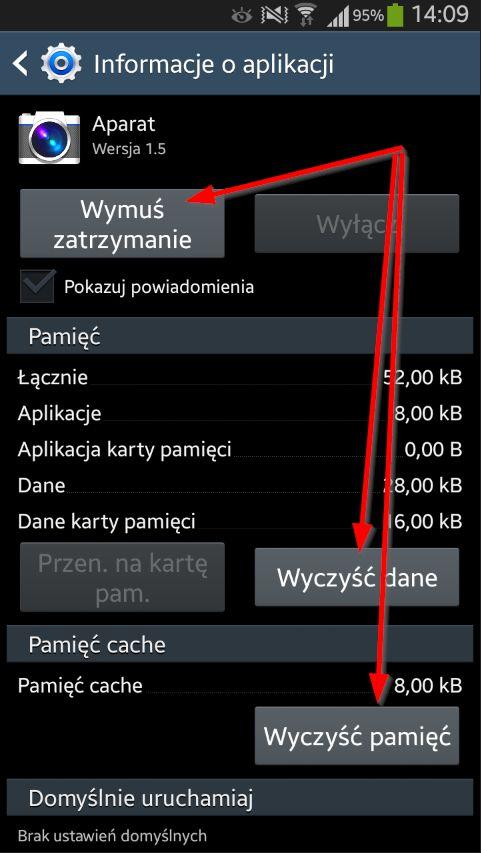 Czyszczenie danych aparatu