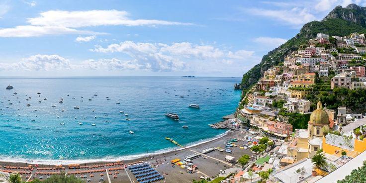 Beach of Marina Grande in Positano, Amalfi Coast   #Positano #AmalfiCoast #Beach  #Italy