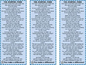 Free! The Starfish Story Bookmark Get for the beginning of the year!
