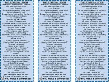 Starfish story bookmarks and starfish on pinterest