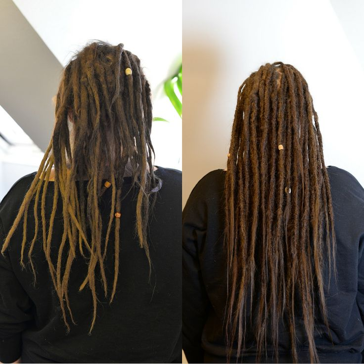 This is Veronika she came to me to get her dreadlocks fixed up and added some new hairextensions for length. What a diffrence don't you think? She was amazed with the thickness of her dreadlocks and how much she will be able to do with her dreads now.