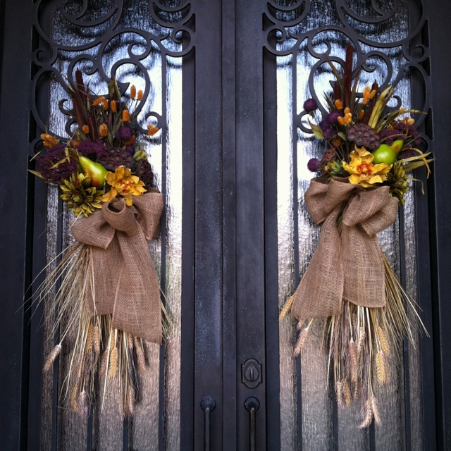 fall swags for front door