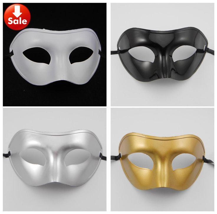 Простой человек маска Венецианский маскарад партии маска Карнавал Хэллоуин костюм золото серебро белый черный Рождественский подарок бесплатно shippping
