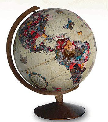 Brabourne Farm: Love .... Art on Globes