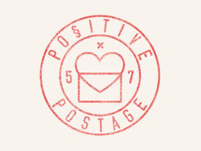 Positive Postage Logo Stamp