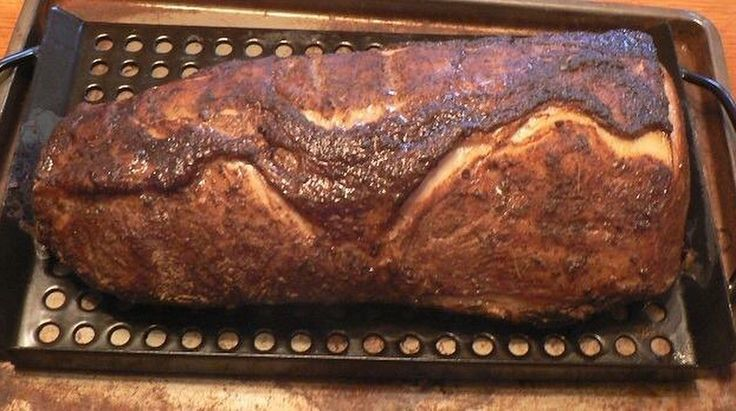 Apple Wood Smoked Pork Loin by deVille. Inspired by Chef Sandy's recipe…