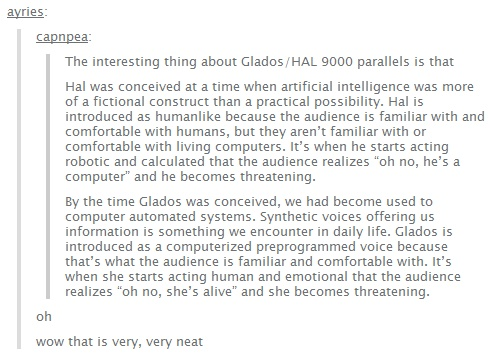 GLaDOS vs HAL 9000