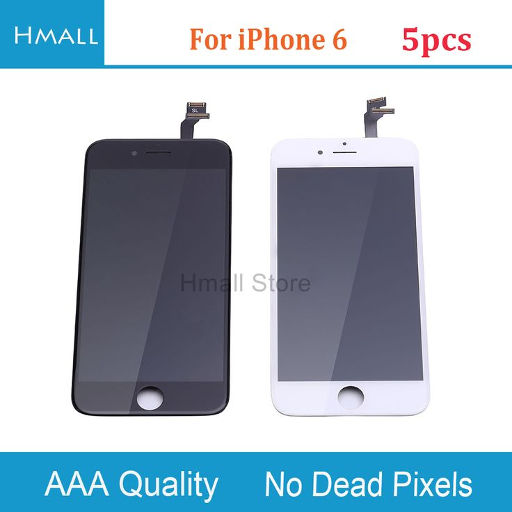 5 PCS For iPhone 6 LCD Display Touch Screen Digitizer Assembly Replacement for iphone6 6G LCD Screen Black No Dead Pixel  #Affiliate