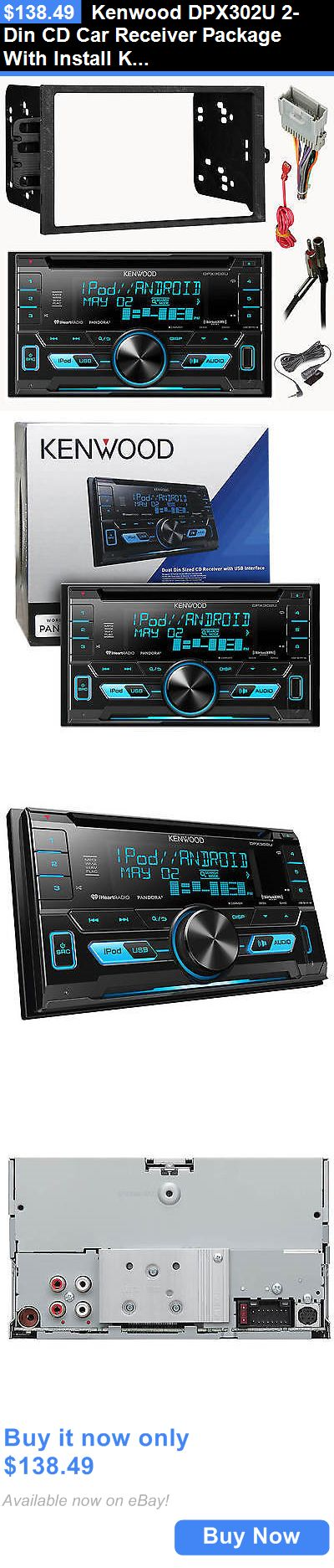 Car Audio In-Dash Units: Kenwood Dpx302u 2-Din Cd Car Receiver Package With Install Kit For Gm Vehicles BUY IT NOW ONLY: $138.49