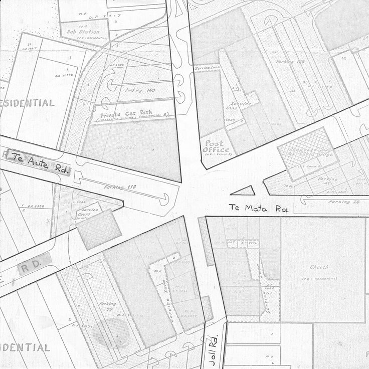 Havelock North Village Centre Map