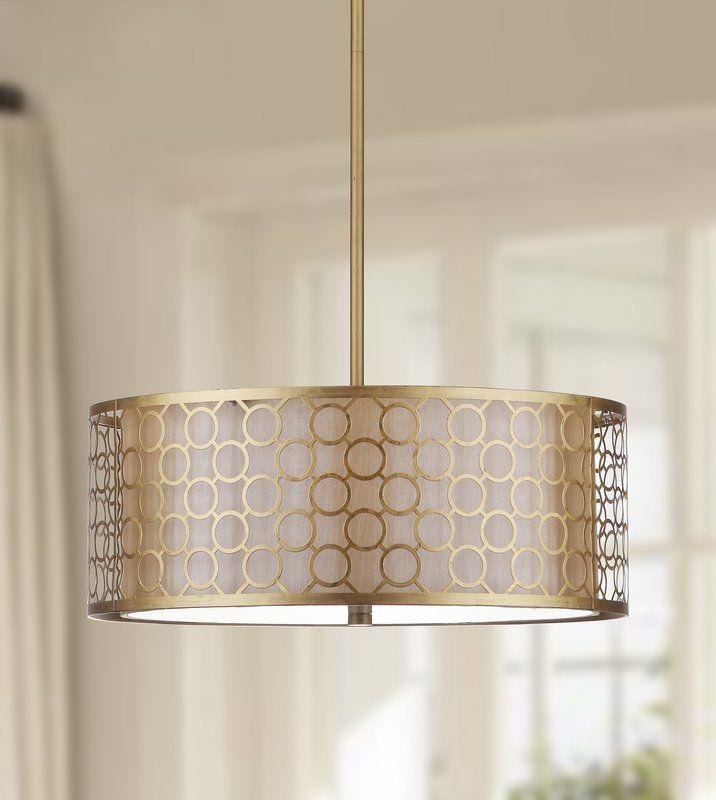 Torpoint 3 Light Shaded Drum Chandelier Drum Pendant Lighting Drum Pendant Lamp Pendant Light
