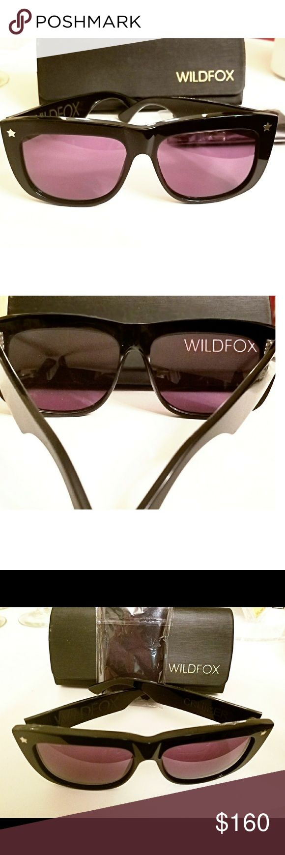 Wildfox Unisex Sunglasses NWT NWT Wildfox Sunnies with purplish gradient comes with original box and cleaning cloth still in plastic!  These are Amazing, great for a tropical vacation or a day on the slopes! Wildfox Accessories Sunglasses