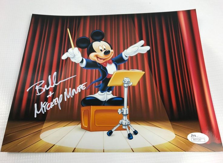 Bret Iwan Autograph 8x10 Photo Mickey Mouse Picture Signed JSA Disney Z10