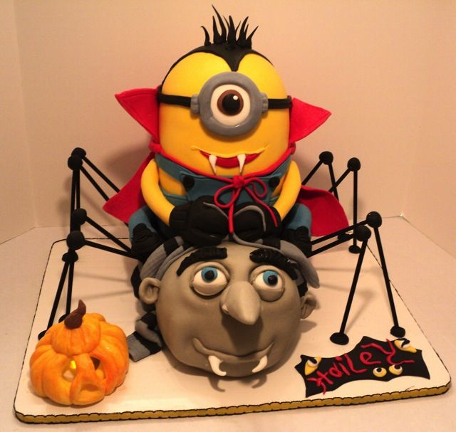 fabulous despicable me halloween cake - Halloween Decorated Cakes
