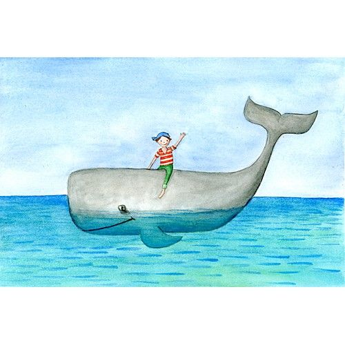 A whale ride for boys printed art by talchen on Etsy, $18.00