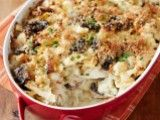 Cooking Channel serves up this Chicken Tetrazzini Casserole with Cauliflower recipe from Rachael Ray plus many other recipes at CookingChannelTV.com