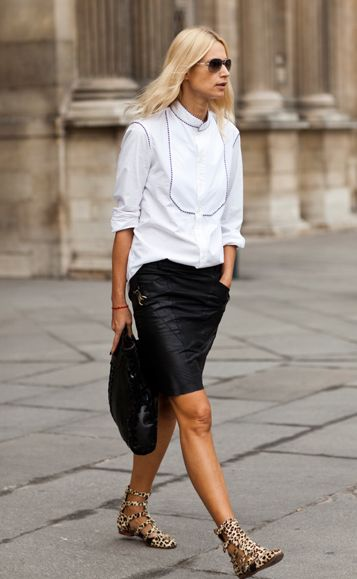 17 Best images about leather skirt on Pinterest | Alexa chung ...