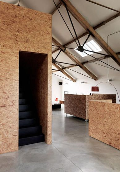 OSB furnishings. Carl Turner Architects