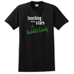 Teaching with the stars of Rockdale county Design.  Customize this design for your school and add to any style, color, or size of your choice