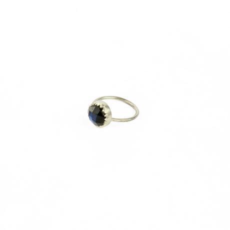 Muchi Galoosh Round Labradorite Ring – Silver from Ornamental Morocco