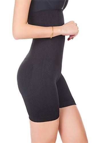 506d96f8ba MUKATU High Waist Tummy Control Shorts Mid-Thigh Slimmer Bodysuit Shapewear  for Women