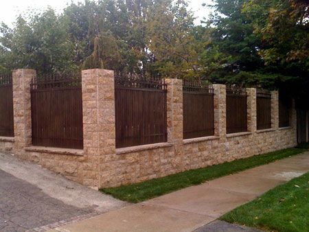 21 best Fences images on Pinterest Brick fence Fence ideas and