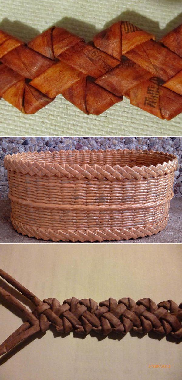 Фигурная косичка для декорирования плетенок из газет.