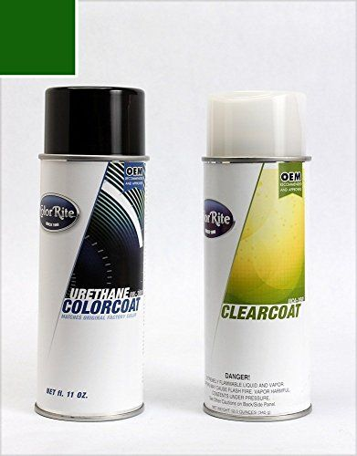 ColorRite Aerosol Ford F-Series, F150, F250, F350 Automotive Touch-up Paint - Dark Highland Green Waterborne Pri Metallic Clear PY/M6921 - Color+Clearcoat Package. For product info go to:  https://www.caraccessoriesonlinemarket.com/colorrite-aerosol-ford-f-series-f150-f250-f350-automotive-touch-up-paint-dark-highland-green-waterborne-pri-metallic-clear-py-m6921-colorclearcoat-package/