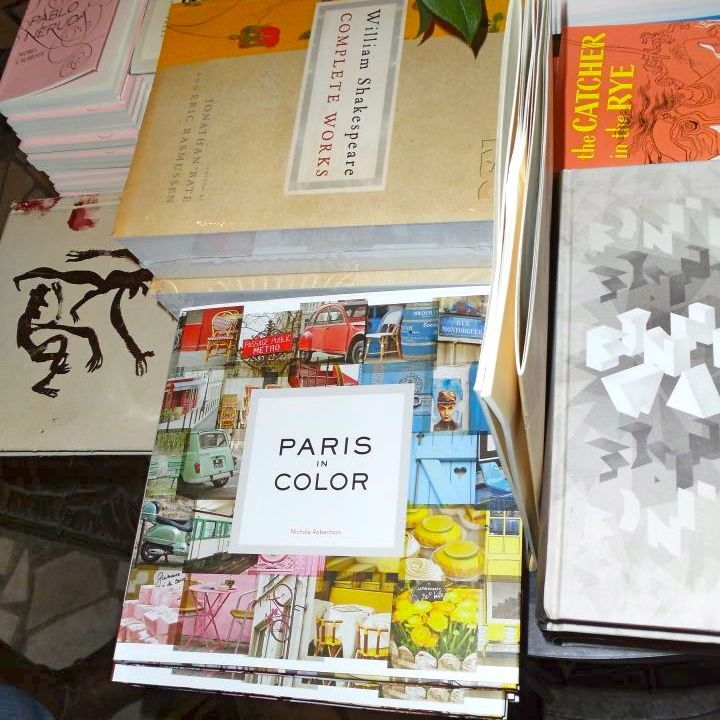 Spotted! @littlebrownpen's Paris in Color in good company with Salinger, Shakespeare, and Neruda at Shakespeare & Company