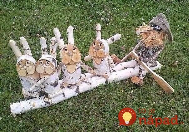 Šikovní ľudia vzali nevyužité zvyšky dreva a vytvorili z nich úžasné veci do svojej záhrady: Tieto diela vznikla z obyčajného odpadu!