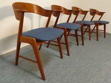 Vintage Kai Kristiansen Teak Chairs (4 ) Danish Modern