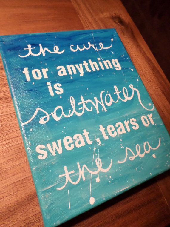 Saltwater Quote Canvas 8x10in by MegLikesToPaint