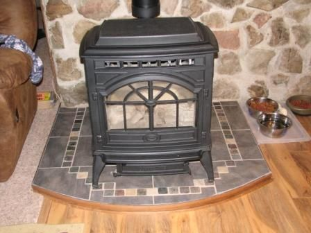 Product Description from the intense heat of a wood burning stove. This version has an angle.