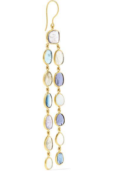 Pippa Small - 18-karat Gold Multi-stone Earrings - one size